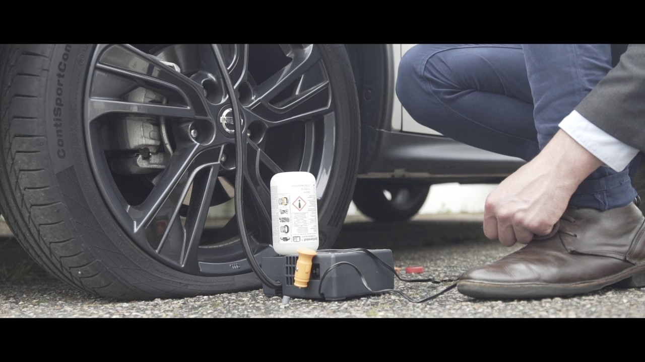How To Use The Tyre Puncture Kit In The Nissan Juke Youtube