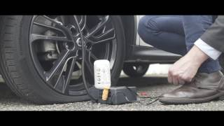 How to use the tyre puncture kit in the Nissan Juke