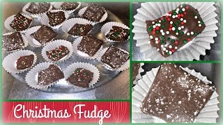Holiday Candy Recipe: Easy Christmas Fudge | Only 3 Ingredients!