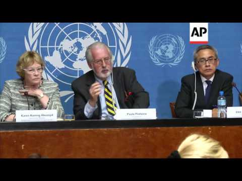 UN War Crimes panel investigating 14 cases of suspected chemical weapons attacks in Syria