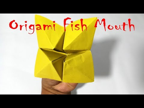 How To Make Origami Fish Mouth / Paper Fish Head Easy Way, 2017