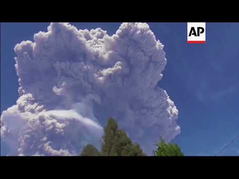 Indonesia's Sinabung volcano erupts, spewing gas
