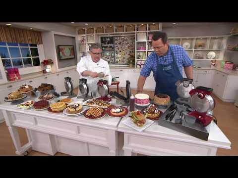 Cuisinart Vertical Waffle Maker with Spatula and Tongs on QVC