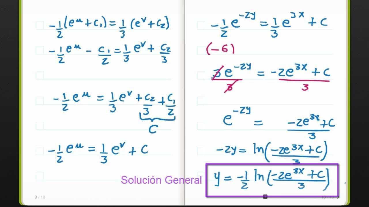 ecuaciones diferenciales no homogeneas ejercicios resueltos pdf