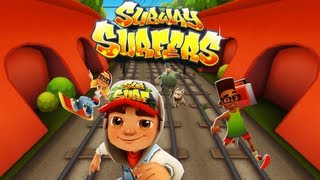Subway Surfers - Gameplay Trailer - Free Game Review for iPhone/iPad/iPod(More great free iPhone iPad iPod playlist - http://www.youtube.com/playlist?list=PL8wZKON07iXUxQhpcBMEJrVNjvjfIuYTA Presented by Kiloo Games and Sybo ..., 2013-05-03T14:24:51.000Z)