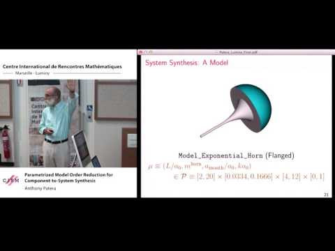 Anthony Patera: Parametrized model order reduction for component-to-system synthesis
