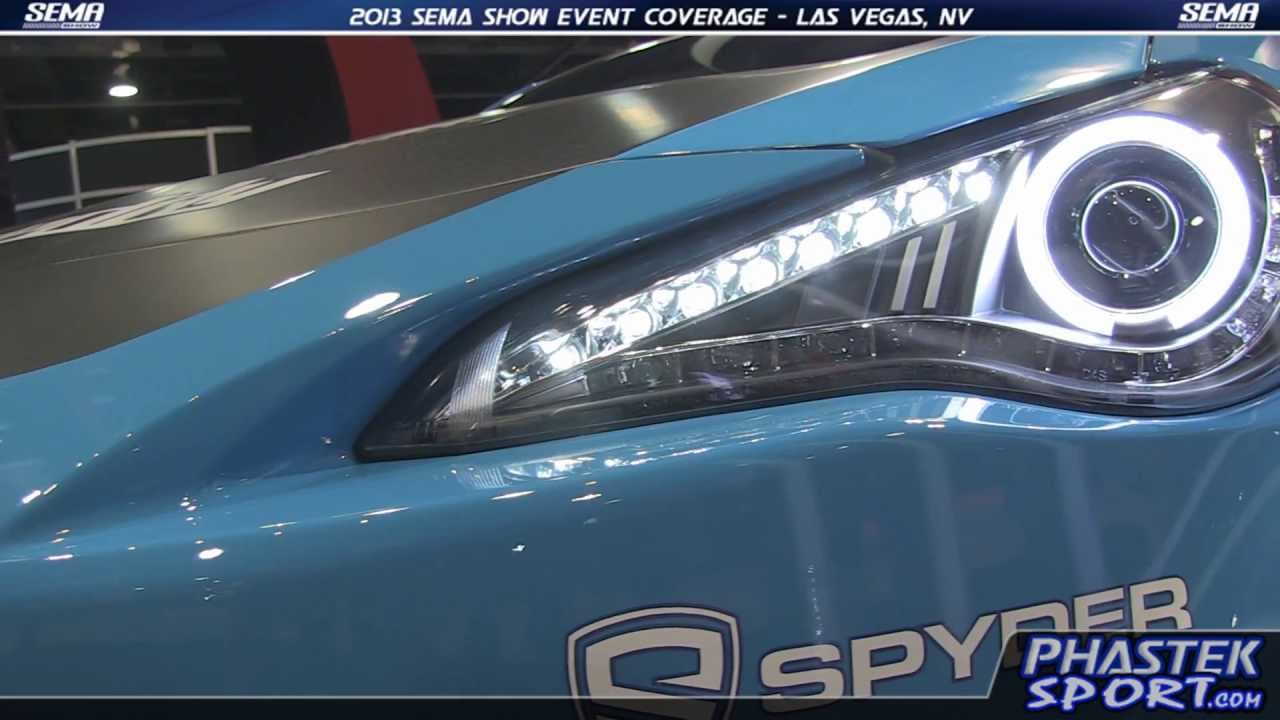 subaru brz custom headlights. phasteksportcom spyder headlights for the scion frs subaru brz sema 2013 youtube brz custom o