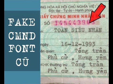 Hướng dẫn Fake CMND Cực Chuẩn 2019 | Edit CMND Cổ | TOÀN SIÊU NHÂN