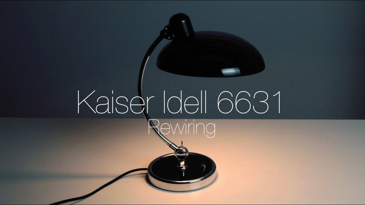kaiser idell 6631 luxus desk lamp rewiring youtube. Black Bedroom Furniture Sets. Home Design Ideas