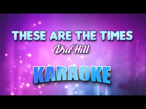 Dru Hill - These Are The Times (Karaoke version with Lyrics)