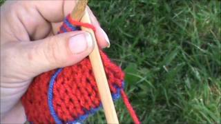 No Twist, Slip Stitch Edging for Double Knitting