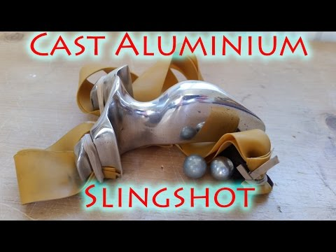 How To Cast a Full Aluminium Slingshot Using Lost Foam Casti