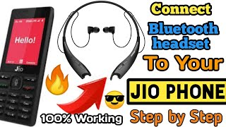 How to connect bluetooth headphone in jio phone part  - 3