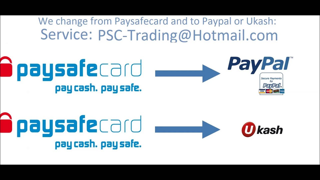 transfer paysafecard to paypal