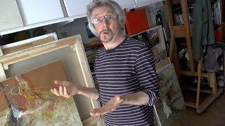 В мастерской художника Сергея Брюханова