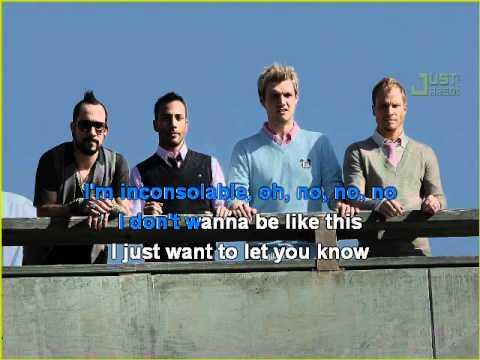 Backstreet Boys - Inconsolable Karaoke