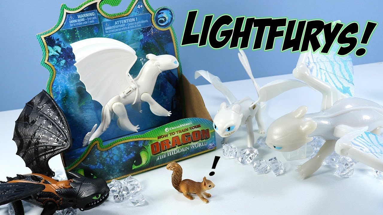 d91916f3062 How to Train Your Dragon 3 The Hidden World Light Fury Spin Master ...