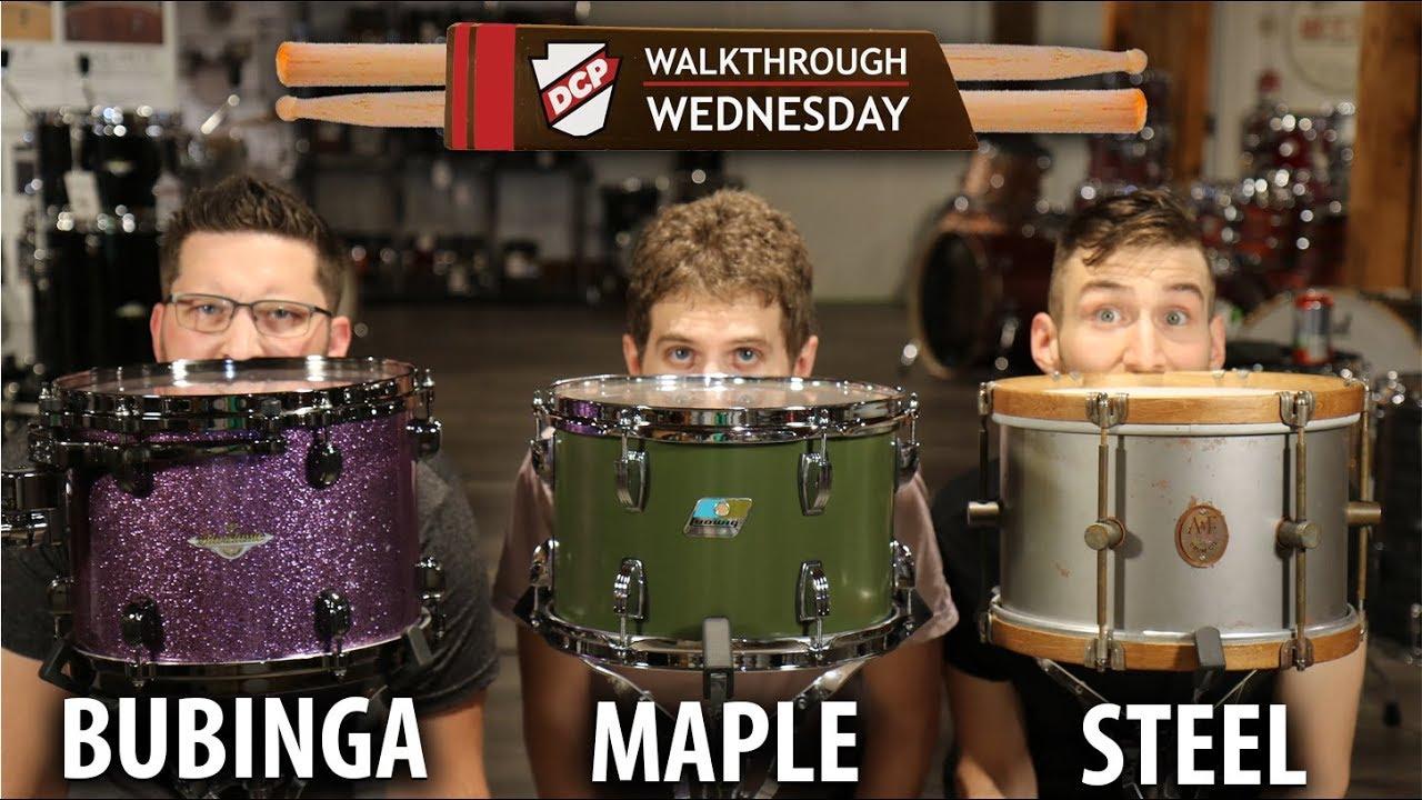 A&F Raw Steel, Tama Starclassic Bubinga, Ludwig Classic Maple - 3 Drum Sets  Tested!
