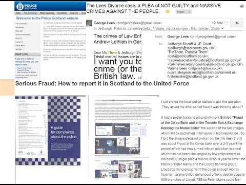 Request to report war crimes, serious fraud and asset stripping of local police jobs Scotland KELSO