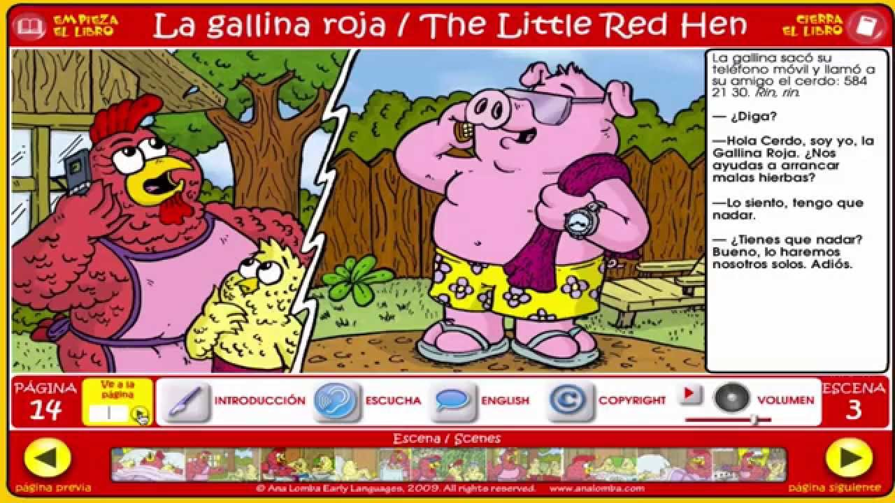 The Little Red Hen Story App - YouTube