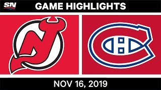 NHL Highlights   Devils vs Canadiens - Nov. 16, 2019