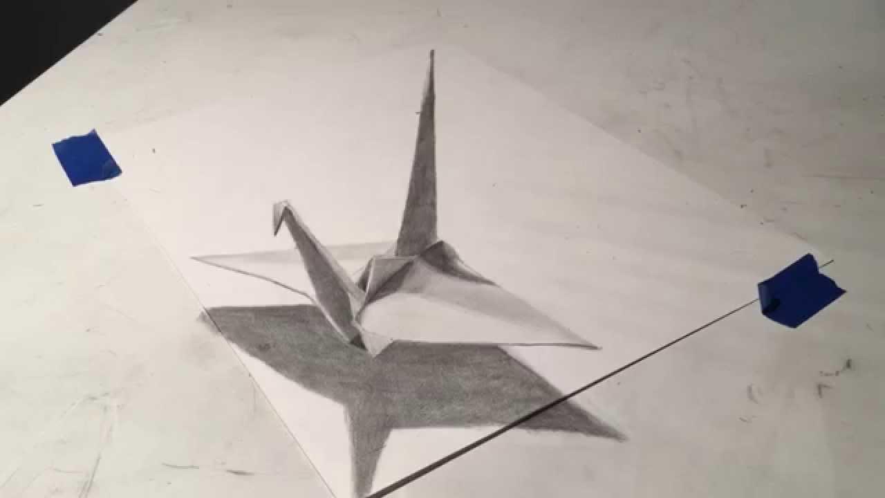 Origami Crane Drawing