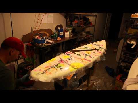 CWR Surfboard Epoxy glassing