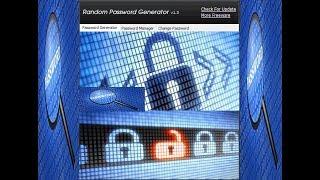 شرح برنامج إدارة, حفظ وتوليد كلمات المرور Random Password Generator