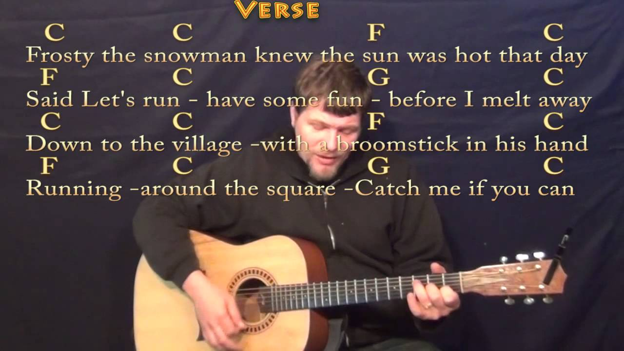 Frosty the snowman strum guitar cover lesson in c with chords frosty the snowman strum guitar cover lesson in c with chordslyrics hexwebz Gallery