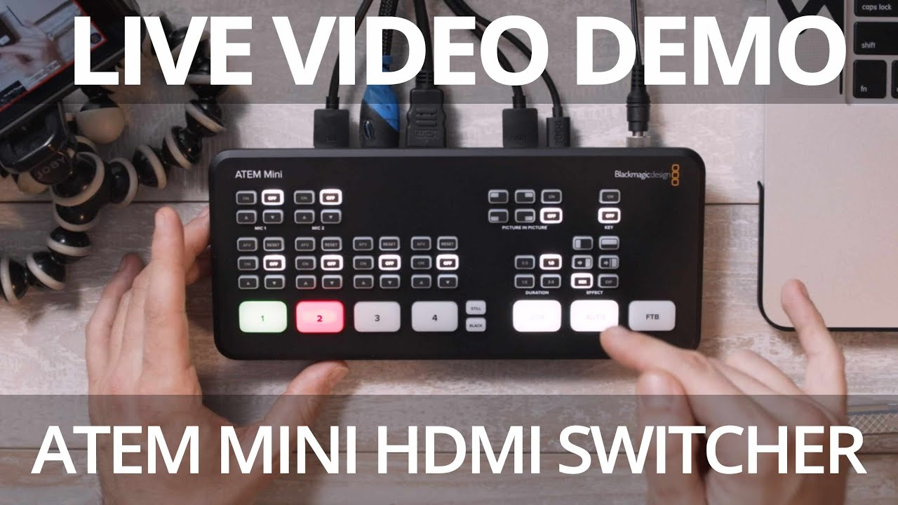 Live Demo Atem Mini Hdmi Switcher By Blackmagic Design Youtube