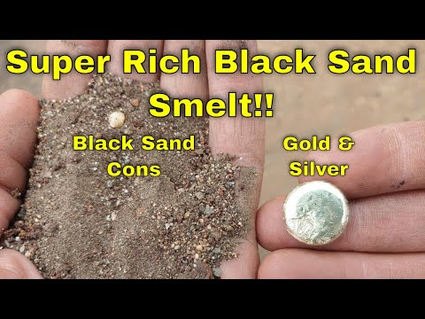 Richest Black Sand Smelt I've Ever Done! No Visible Gold/Silver, Huge Precious Metal Button