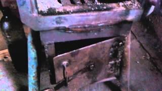 Печка для гаража из пропановых баллонов.