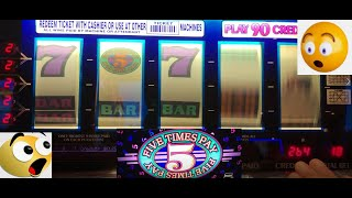 CLASSIC OLD SCHOOL CASINO SLOTS: FIVE TIMES PAY SLOT PLAY! 9 LINE 5 REEL 5 TIMES PAY! BIG WINS!