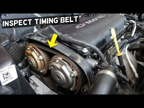 HOW TO INSPECT CHECK TIMING BELT ON CHEVROLET CRUZE AND CHEVY SONIC 1.8