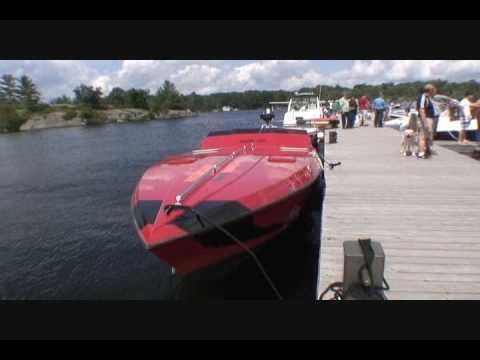 Off Shore Muskoka Wharf Gravenhurst July 11 2009 Cigarette twin 250 Outboards