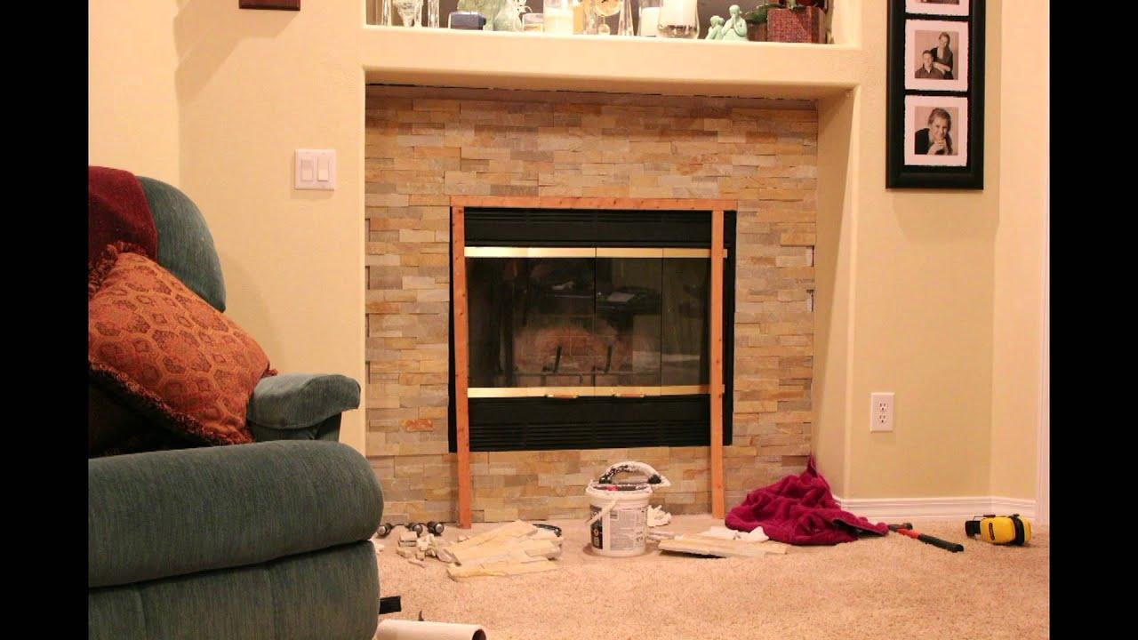 Replacing fireplace tile
