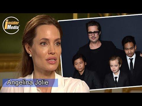 Interview: Angelina Jolie feels 'bad' sharing her children with Brad Pitt.