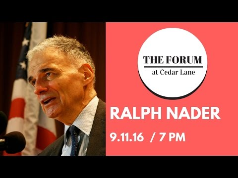 Ralph Nader at the Forum at Cedar Lane