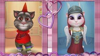 Кошечка Анжела и Котик Том / Соревнование Игра про котят My Talking Angela & Tom