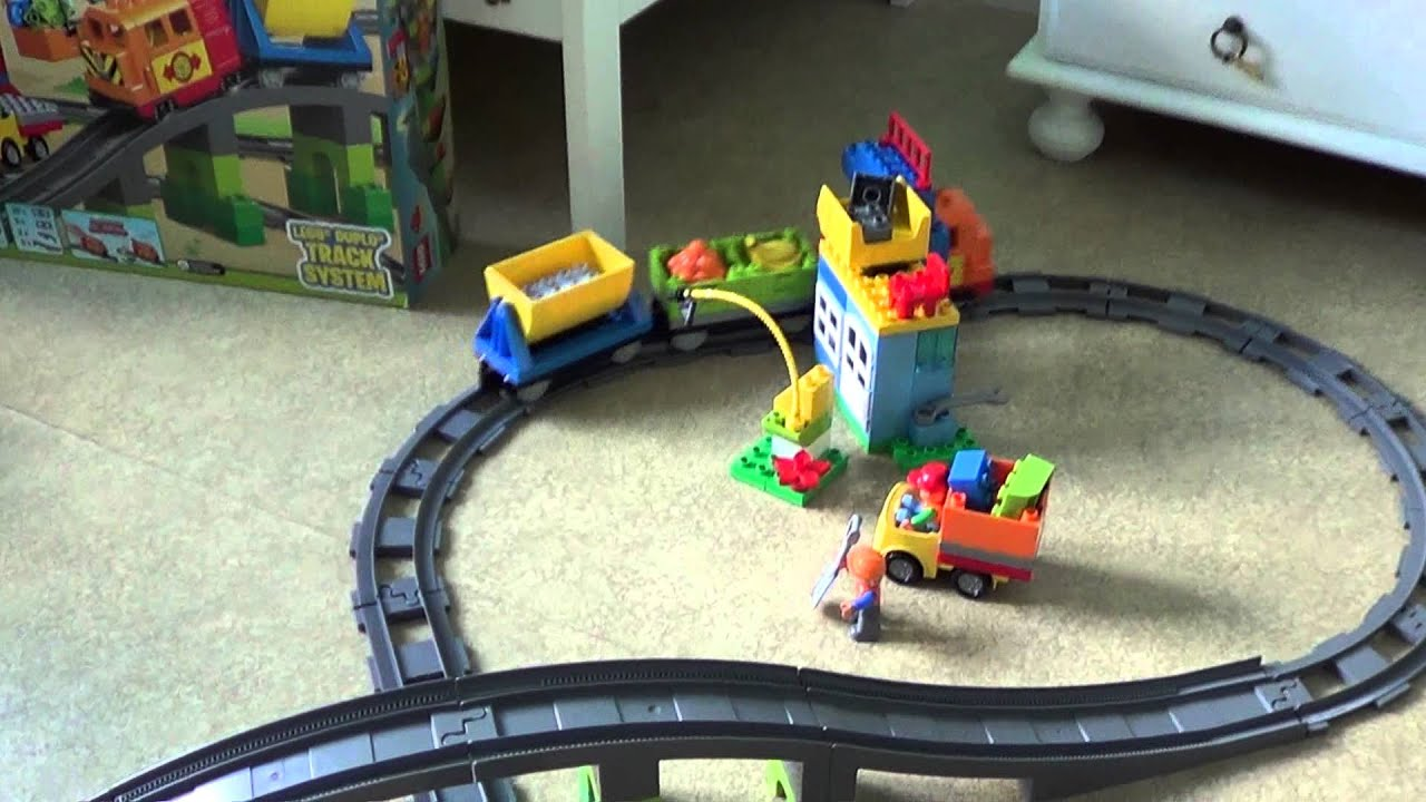 lego duplo 10508 deluxe train set from 2013 youtube. Black Bedroom Furniture Sets. Home Design Ideas