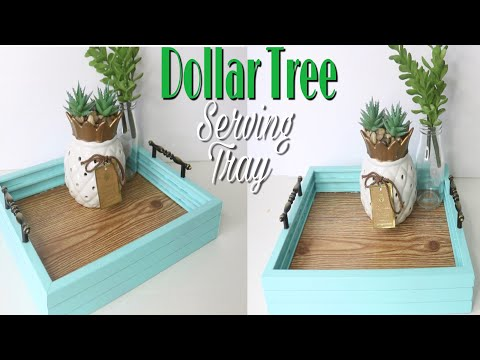 Dollar Tree DIY Faux Wood Tray | DIY SERVING TRAY