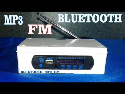 How to make a mini music system !!! Mp3 / Bluetooth / Fm