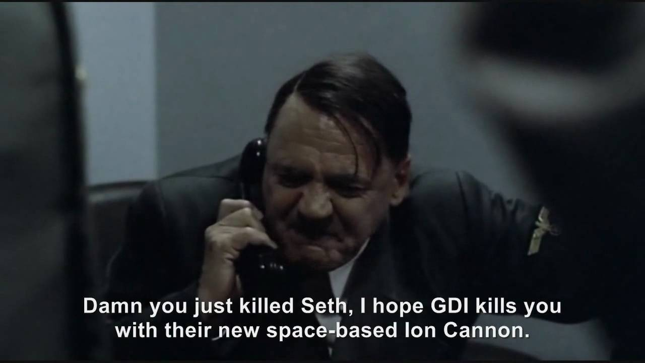 Hitler phones Seth from Command & Conquer