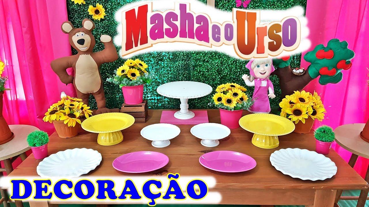 Decoração De Festa Masha E O Urso Youtube