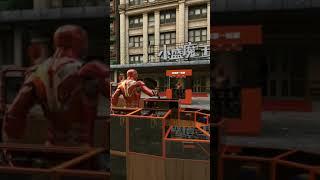 funny Spiderman vs iron man & Deadpool