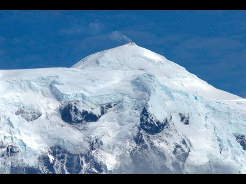 Rare video of Heard Island volcano Big Ben erupting