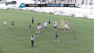 UNH Women's Lacrosse vs Monmouth Highlights 03/12/18
