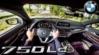 BMW 7 Series 750d Xdrive POV Test Drive & Sound