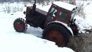 Ехали ехали а тут трактор )))