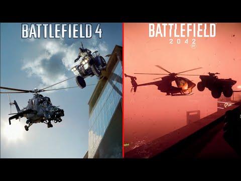 Battlefield 4 Vs Battlefield 2042 - Gameplay Trailer Comparison |